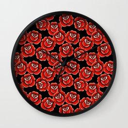 Roses Pattern Wall Clock