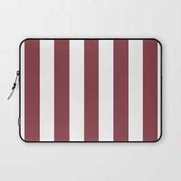 Solid pink violet - solid color - white vertical lines pattern Laptop Sleeve