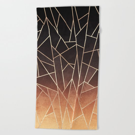 Shattered Ombre Beach Towel