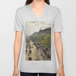 "Camille Pissarro ""Boulevard Montmartre, Spring"" Unisex V-Neck"