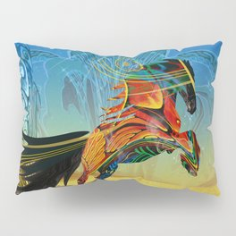 The Wind of Time (Red Horse) Pillow Sham