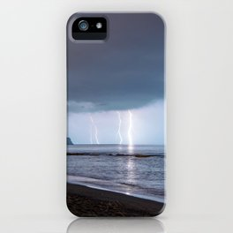 Lightning in an apprently quiet atmosphere iPhone Case