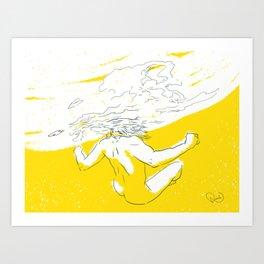 Sinking feeling Art Print