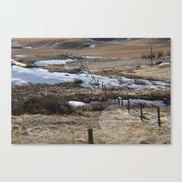 Lower River Road Canvas Print