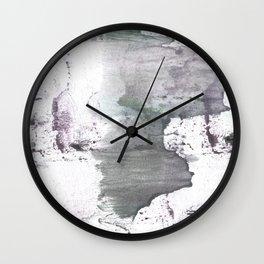 Gray hand-drawn wash drawing design Wall Clock