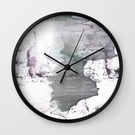 Gray hand-drawn wash drawing design Wall Clock