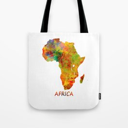 Africa map colored Tote Bag
