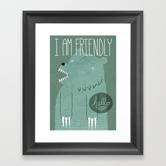 Friendly Bear Framed Art Print