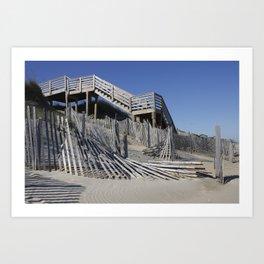 Beach Lines Art Print