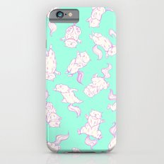 Lazy Cat Pattern Solid iPhone 6s Slim Case
