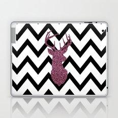 Pink Glitter Deer Chevron Laptop & iPad Skin