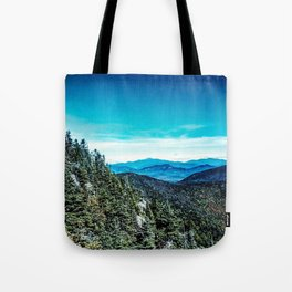 Metallic Mountain Tote Bag