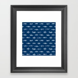 knots pattern sailing nautical knot tying illustration coastal decor Framed Art Print