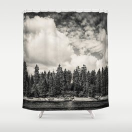 Far Away Clouds Passing By Shower Curtain