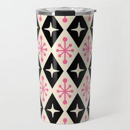 Mid Century Modern Atomic Triangle Pattern 113 Travel Mug