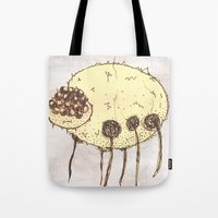 spider Tote Bags featuring Spider by Of Lions And Lambs