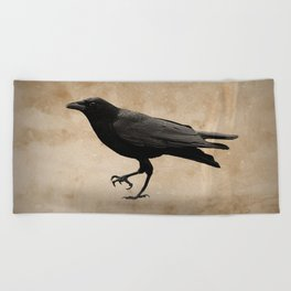 Black and White Crow Tree Fog Mist Modern Cottage Decor Matted Picture USA A532
