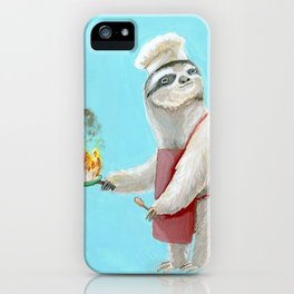 Sloths Are Bad At Things- Henri the Chef! iPhone Case