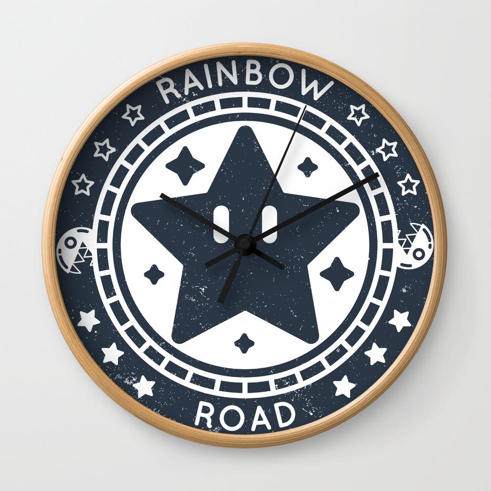 Rainbow Road Mario Kart 64 Wall Clock By Pxpassport Society6