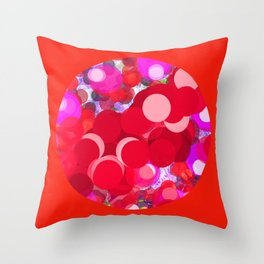 SEXY PLEXI DOTS FULL OF RED LOVE  Throw Pillow