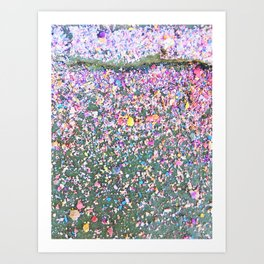 Chalk Dust Confetti - Rainbow Art Print
