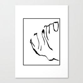 Dog art English Bulldog print black white  Canvas Print