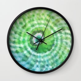 Green sphere Wall Clock