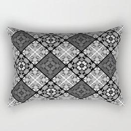 Black and white patchwork 3 Rectangular Pillow