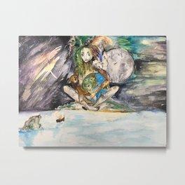 Mye's Earth Metal Print