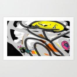 The Cat, The Bee & The Eye Art Print
