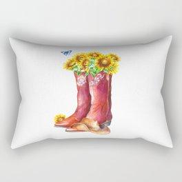 Western Sunflower Rectangular Pillow