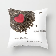 Love Coffee Throw Pillow