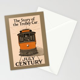 History of the Trolley car 1905 Stationery Cards