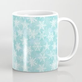 blue winter background with white snowflakes Coffee Mug