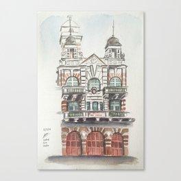 Central Fire Station (Singapore) Canvas Print