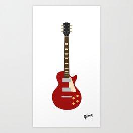 Gibson Les Paul Red Art Print