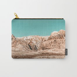 Mojave Red Rocks // Desert Landscape Cactus Mountain Range Teal Blue Skyline Carry-All Pouch