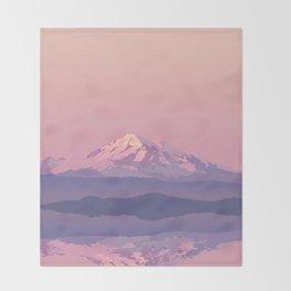 Mt Baker Throw Blanket