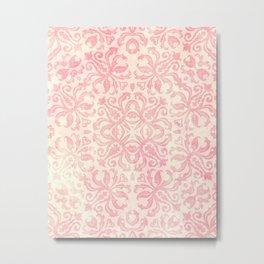 Shabby Arabesque Pattern Metal Print