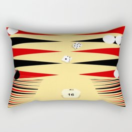 3D Backgammon Rectangular Pillow