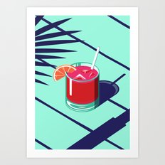 An Isometric Cocktail Art Print