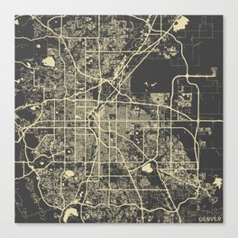 Denver map Canvas Print