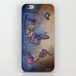 Stars world map. Blue. World map iPhone Skin