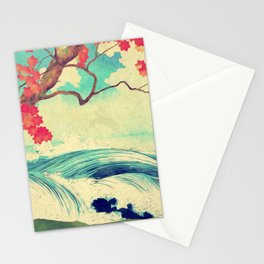 Waking to the Wild and Beautiful Ocean of Dhin Stationery Cards