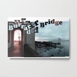 Burrard Bridge Walker - Pair (left) Metal Print
