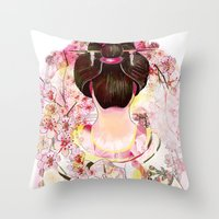 japanese Throw Pillows featuring Japanese by Felicia Cirstea