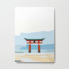 Floating Torii Japan Metal Print