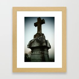 Ancient Cross Framed Art Print