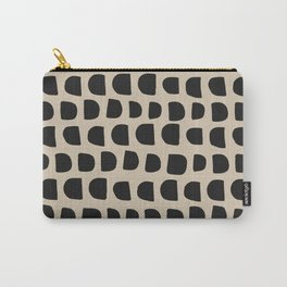 Modern Mudcloth Pattern - Black and White Carry-All Pouch