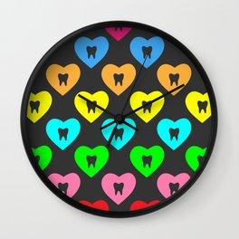 Enamel Heart 2 Wall Clock